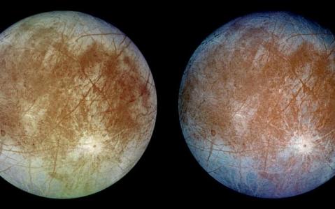 Océano bajo el hielo de Europa